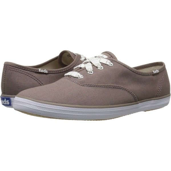 Keds Champion Seasonal Solids (Deep Taupe) Women's Lace up casual... ($31) ❤ liked on Polyvore featuring shoes, taupe, laced up shoes, keds, keds shoes, lace up shoes and laced shoes