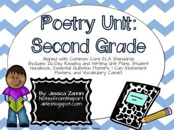poetry unit second grade common core standards complete pack beats common core standards. Black Bedroom Furniture Sets. Home Design Ideas