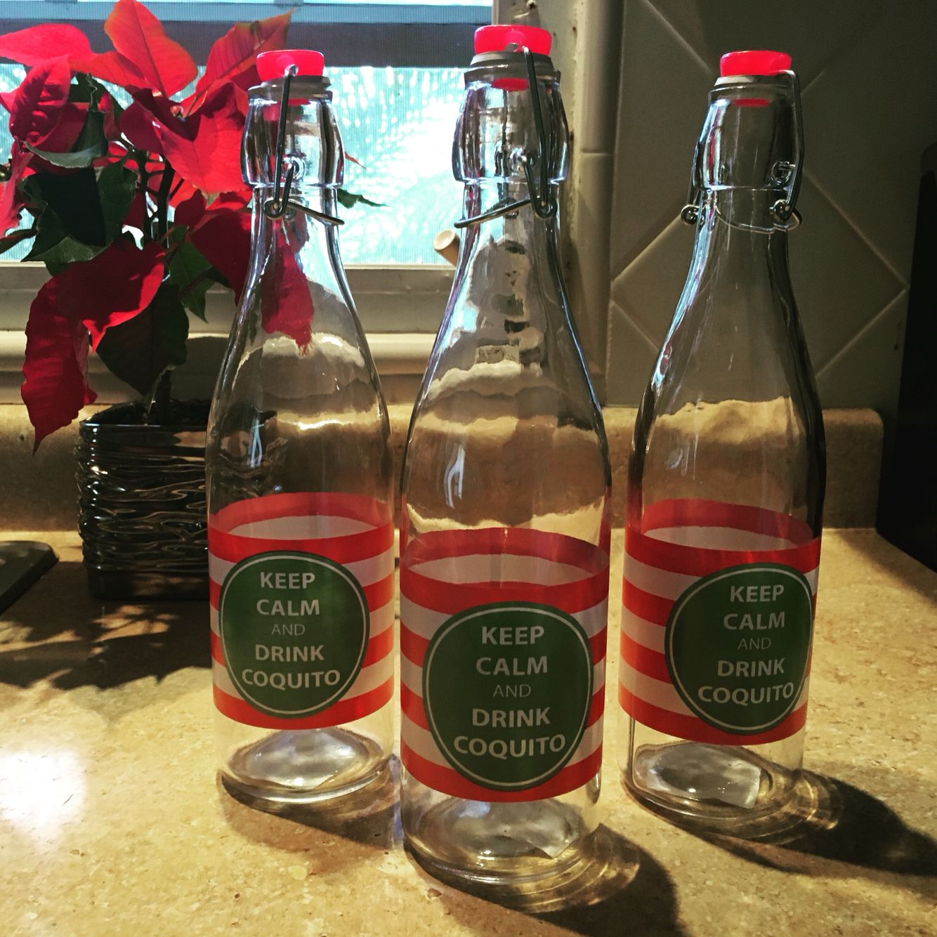Coquito bottles coquito bottles pinterest bottle and for Decor drink bottle