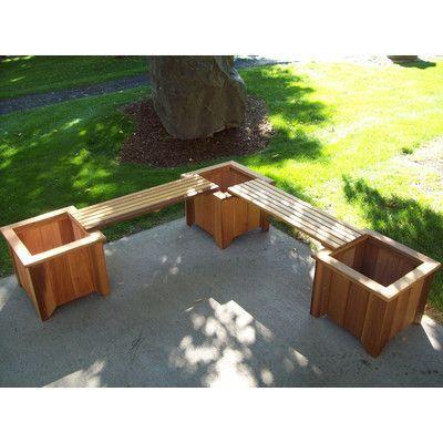WoodCountry Wood Planter Bench Color Cedar Stain Hunt Box - como hacer bancas de madera para jardin