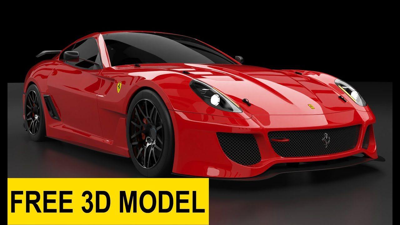 Keyshot Animasi Mobil Objek Dan Kamera 3d Model Ferrari 599 Free 3d M Ferrari Mobil Indigo