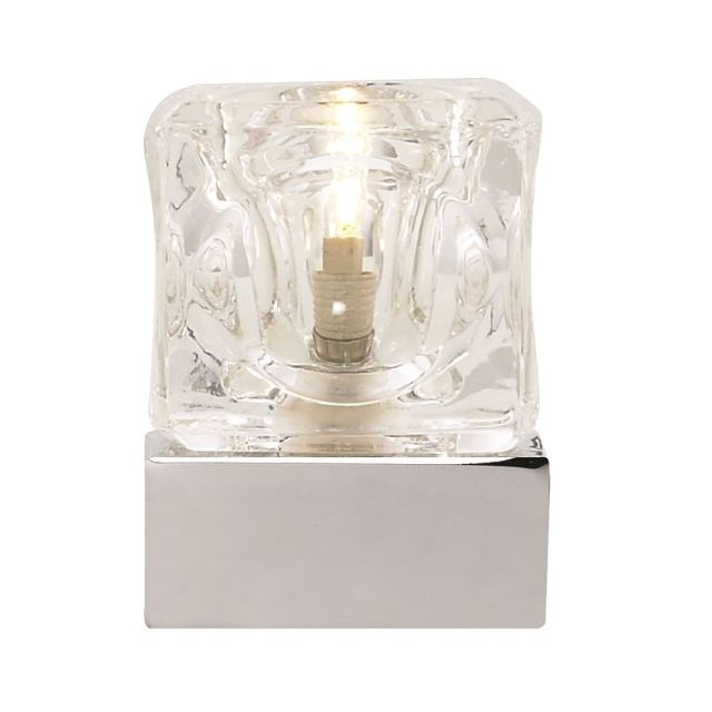 EU3893CC Metal Touch - dotyková stolná lampa - chróm + sklo