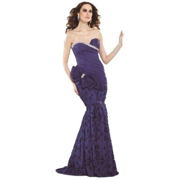 Pre-owned Tarik Ediz Royal New 92026 In Size 8 Dress ($415) ❤ liked ...
