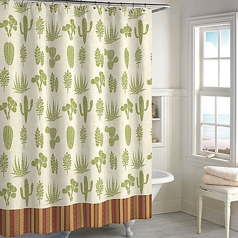 Cactus Shower Curtain Cactus Shower Curtain Curtains
