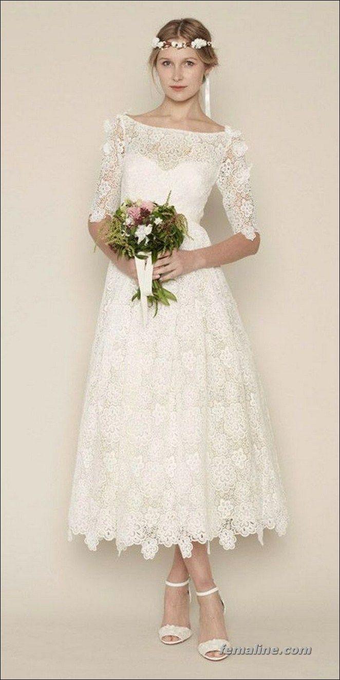 elegant tea length wedding dresses vintage here comes the