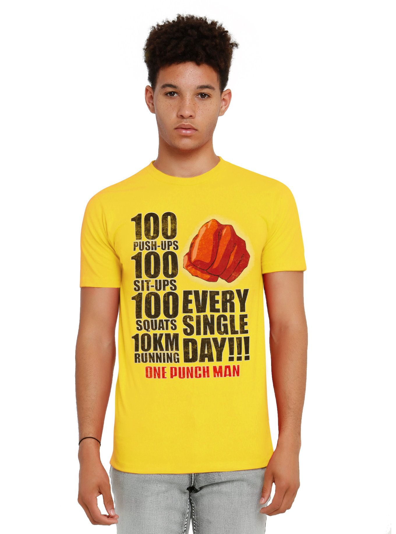 One Punch Man Workout T-Shirt   One punch man workout ...