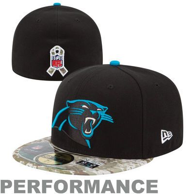 b881856f024 Carolina Panthers New Era Black Digital Camo Salute to Service On-Field 59FIFTY  Fitted Hat