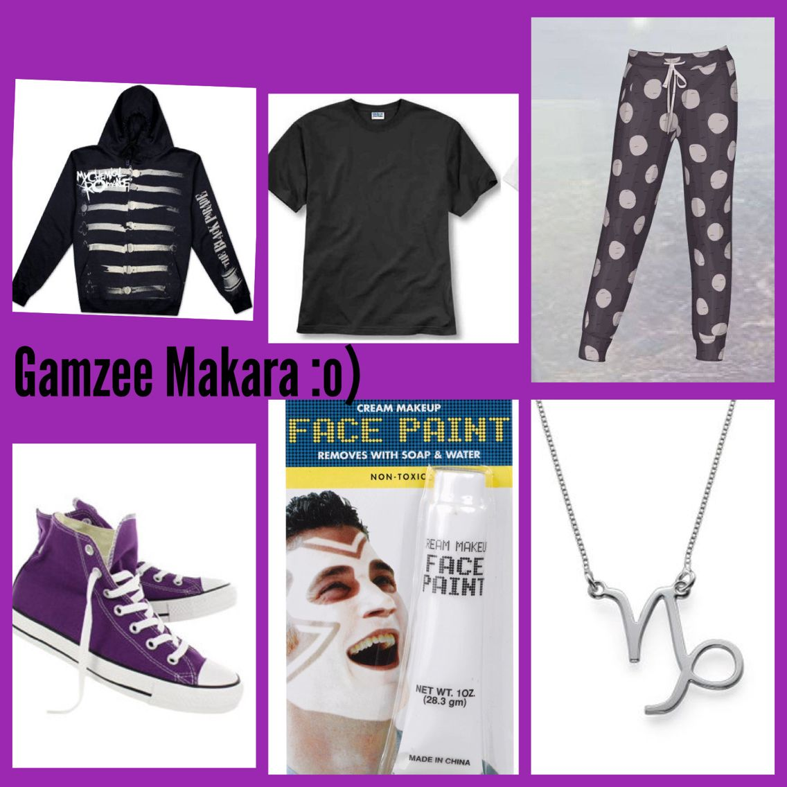 Gamzee Makara themed outfit  #Homestuck #Fashion #Clothing