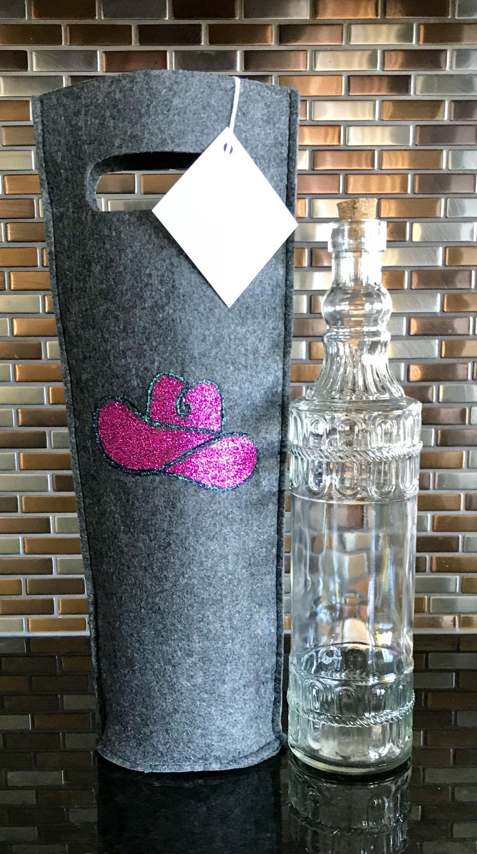 """Calgary"" handpainted giftbag cowboyhat"