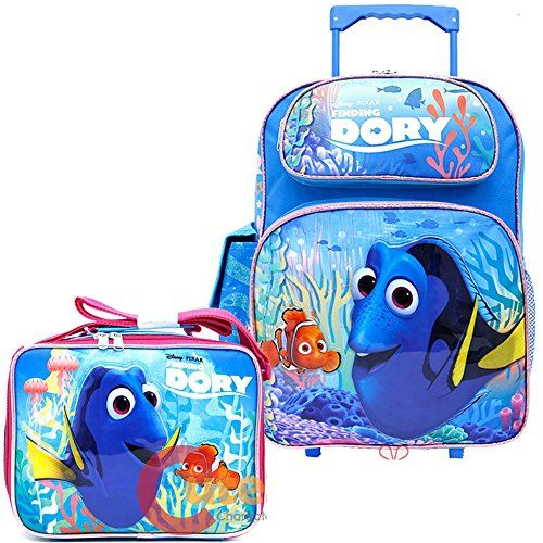 86b20eb83e25 Finding Dory Large School Roller Backpack with Lunch Bag 2pc Set ...