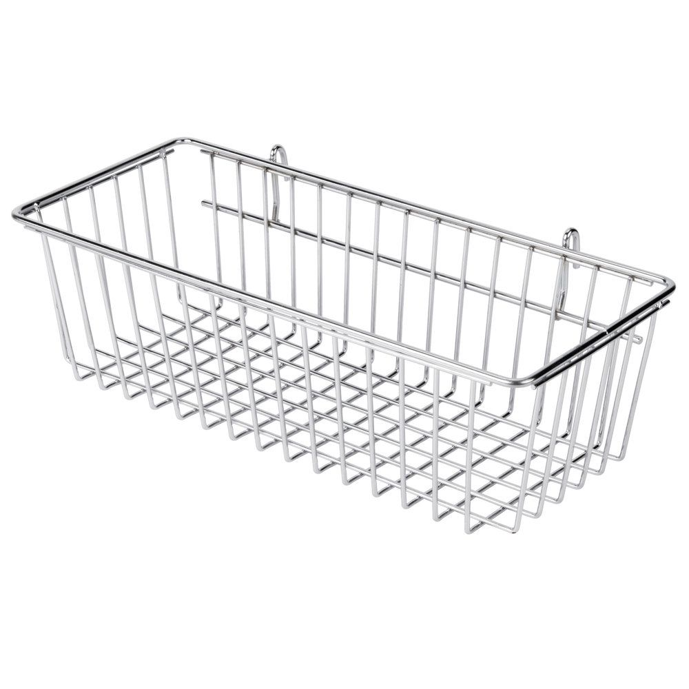 Regency Chrome Storage Basket for Wire Shelving - 17 3/8\