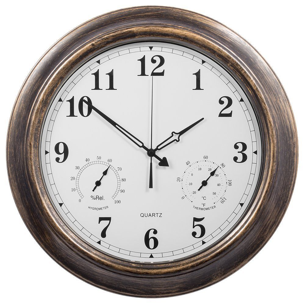 Hang The Clock On The Wall The Clock Includes A Hook For Hanging On A Wall Hang Indoors Or For Out Outdoor Wall Clocks Large Outdoor Wall Clock Outdoor Clock