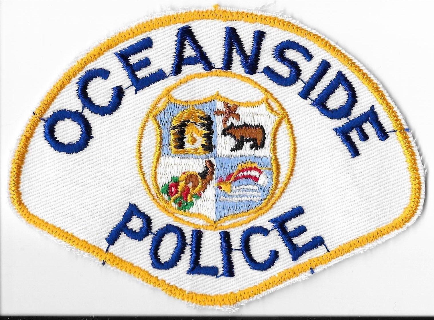 Oceanside California Police Department Shoulder Patch 7 25 Police Police Department Patches