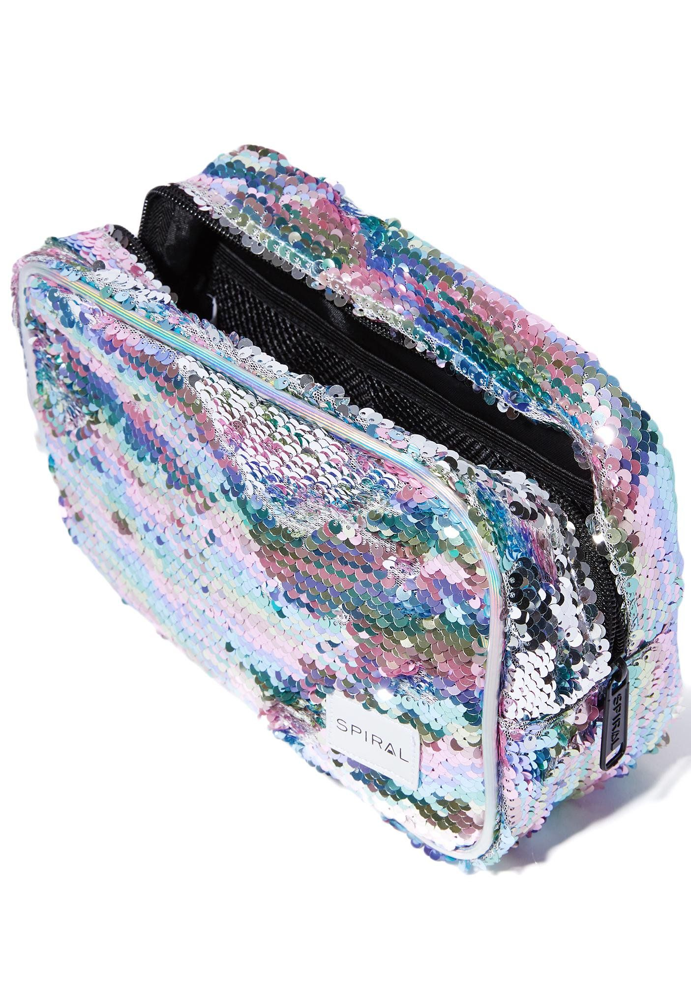 8fd65c1a336f Spiral UK Rainbow Sequins Portland Cosmetic Bag cuz sparkly rainbow equals  happiness