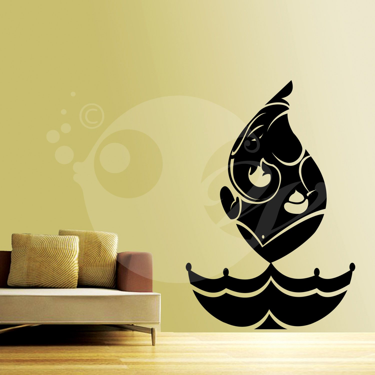 With this Ganesha In Flame Wall Sticker Decal you can decorate your ...