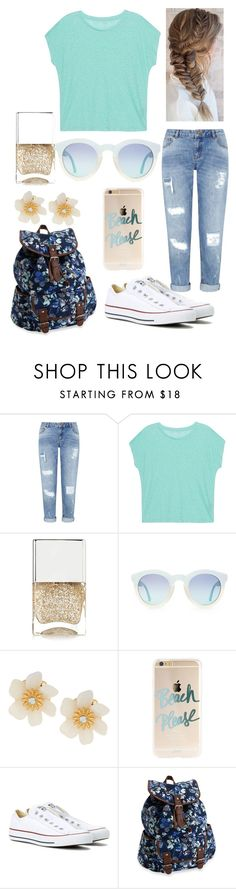 """""""Untitled #20"""" by ebellows18 ❤ liked on Polyvore featuring Miss Selfridge, Majestic Filatures, Nails Inc., Lydell NYC, Converse and Aéropostale"""