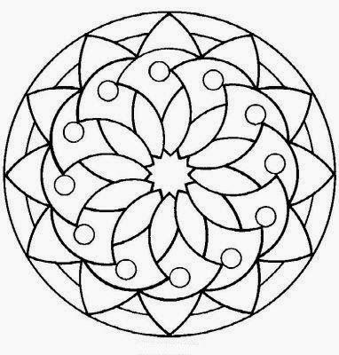 Desenhos De Mosaico Para Colorir Formando Alunos Mandalas Para