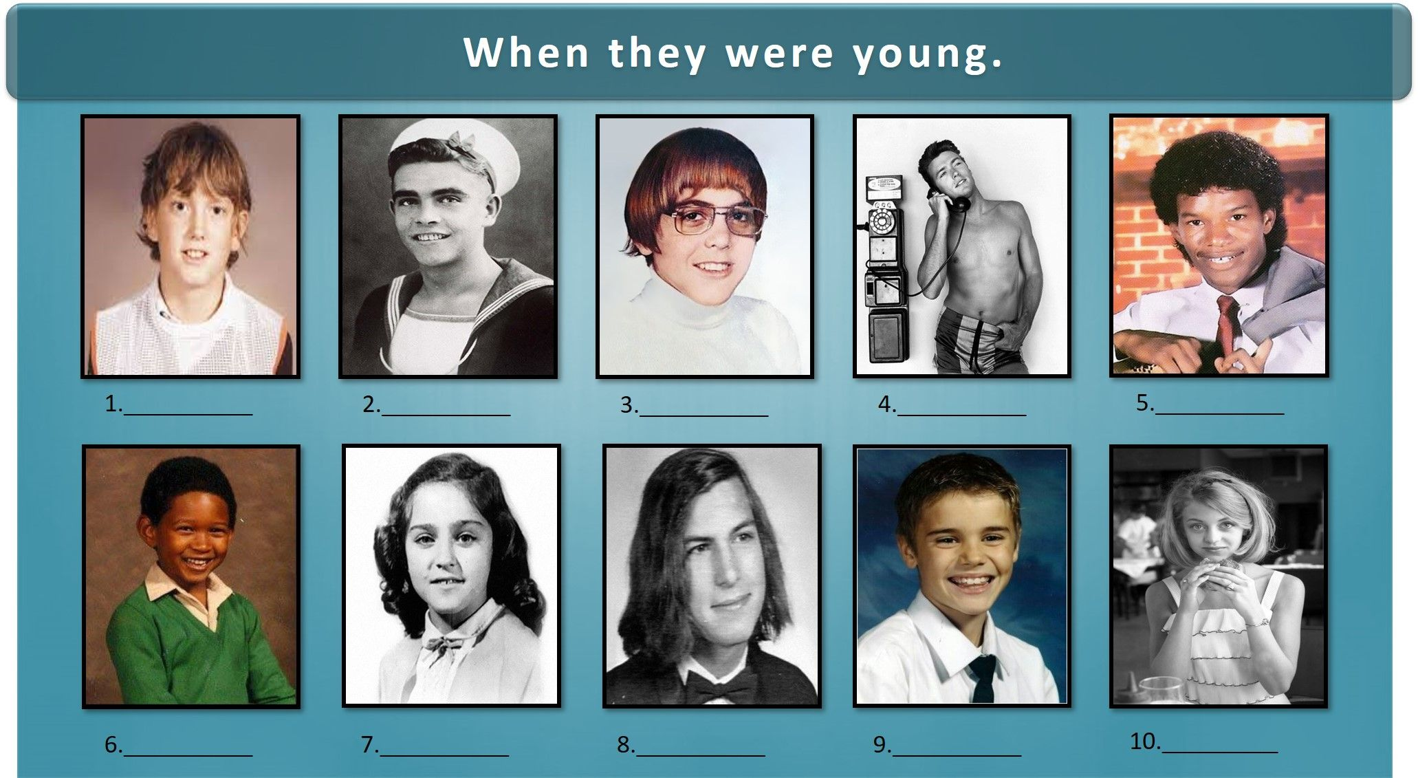 Can You Guess Who These Young Faces Are With Images Trivia