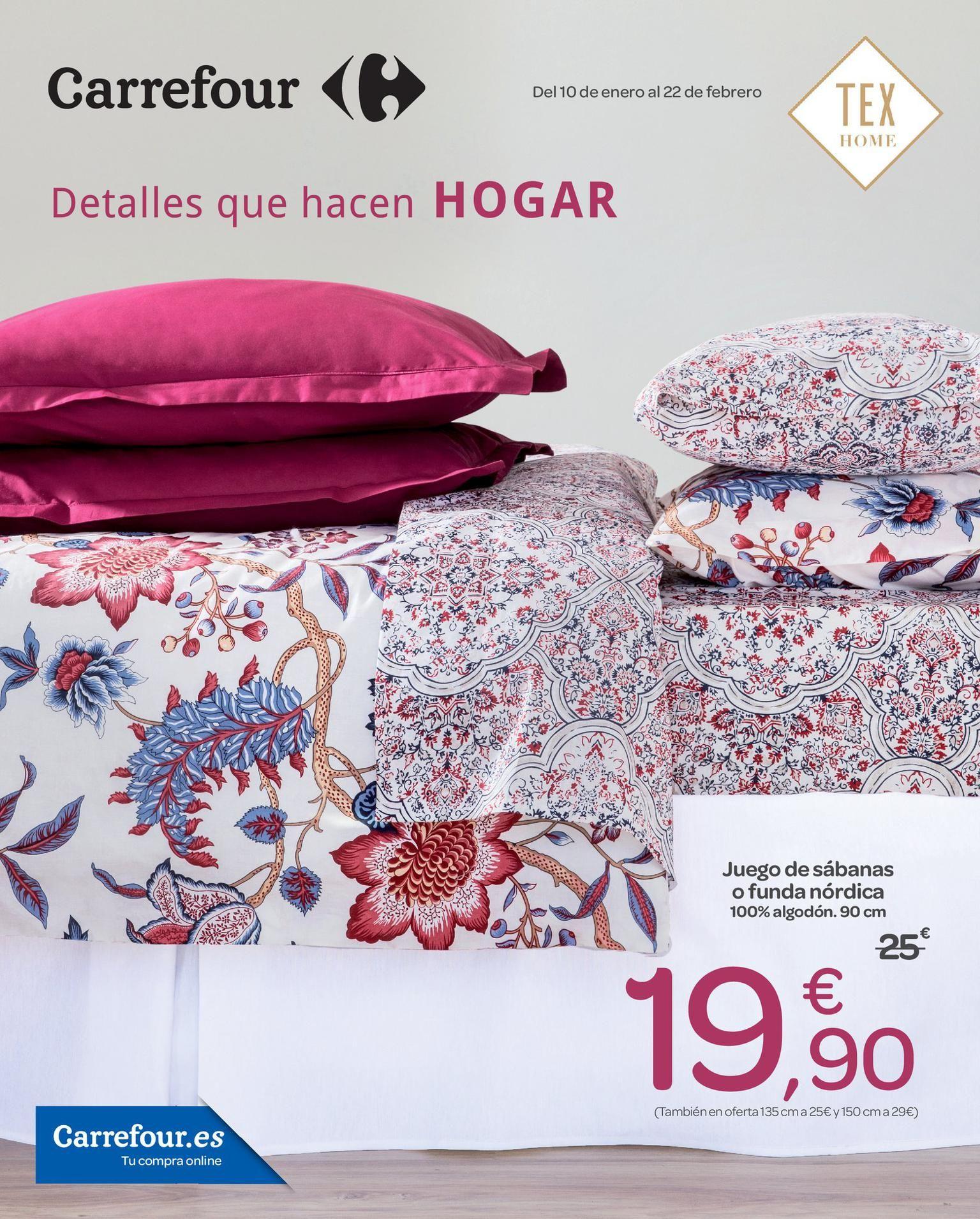 Anémona de mar camisa Votación  TEX Home - Carrefour | Sabanas, Juegos de sábanas, Hogar