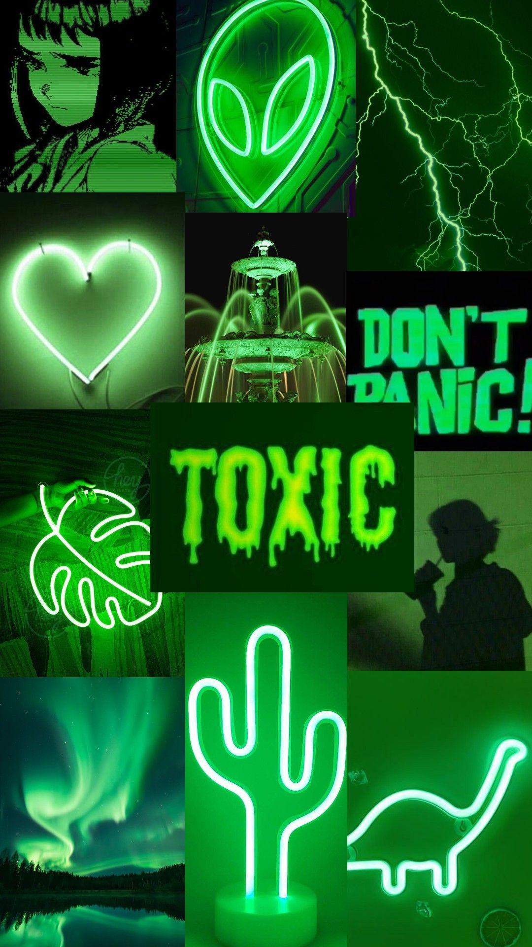 Aesthetic Neon Green Wallpaper College Pretty Wallpaper Iphone Pretty Wallpapers Green Aesthetic