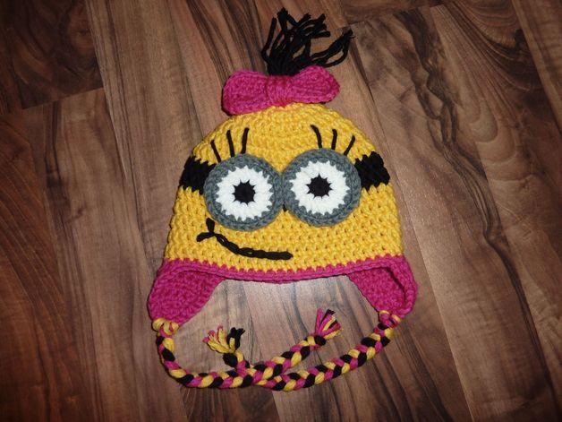 Minions Mädchen Mütze | Häkeln | Pinterest | Mädchen mütze, Minions ...