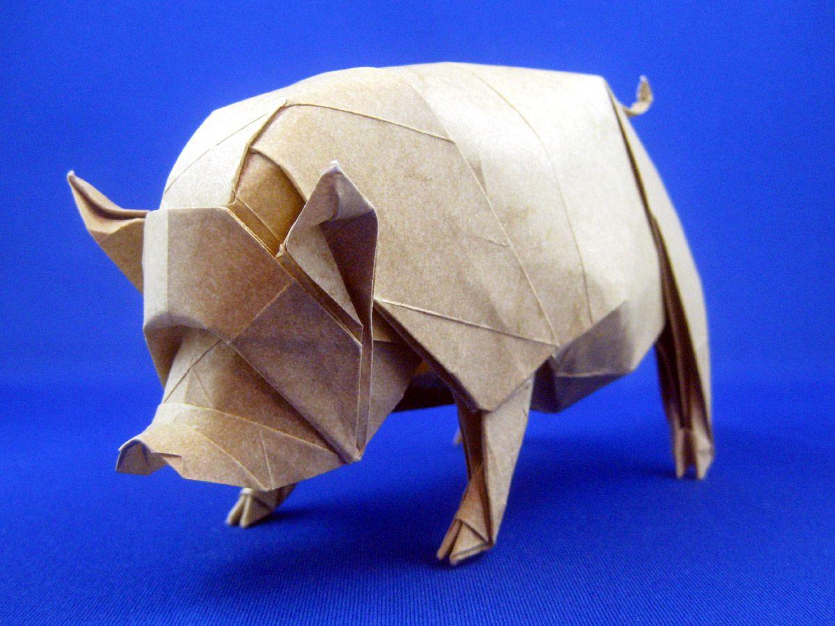 Joseph wu origami pig origami pinterest origami origami joseph wu origami pig pooptronica