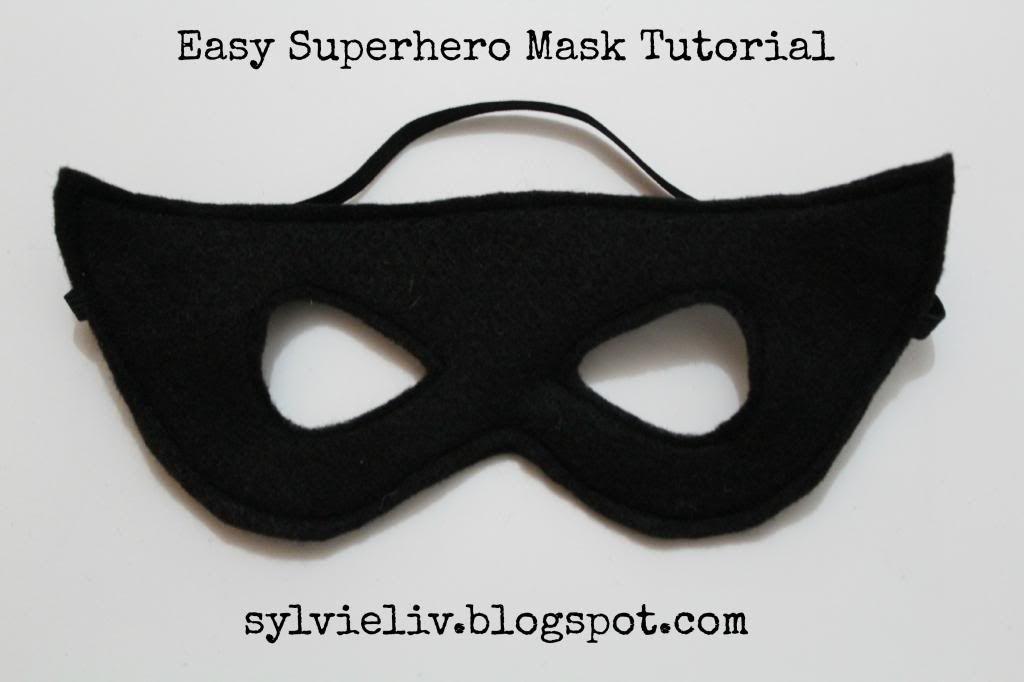 Easy Superhero Bandit Mask Tutorial Out Of Felt