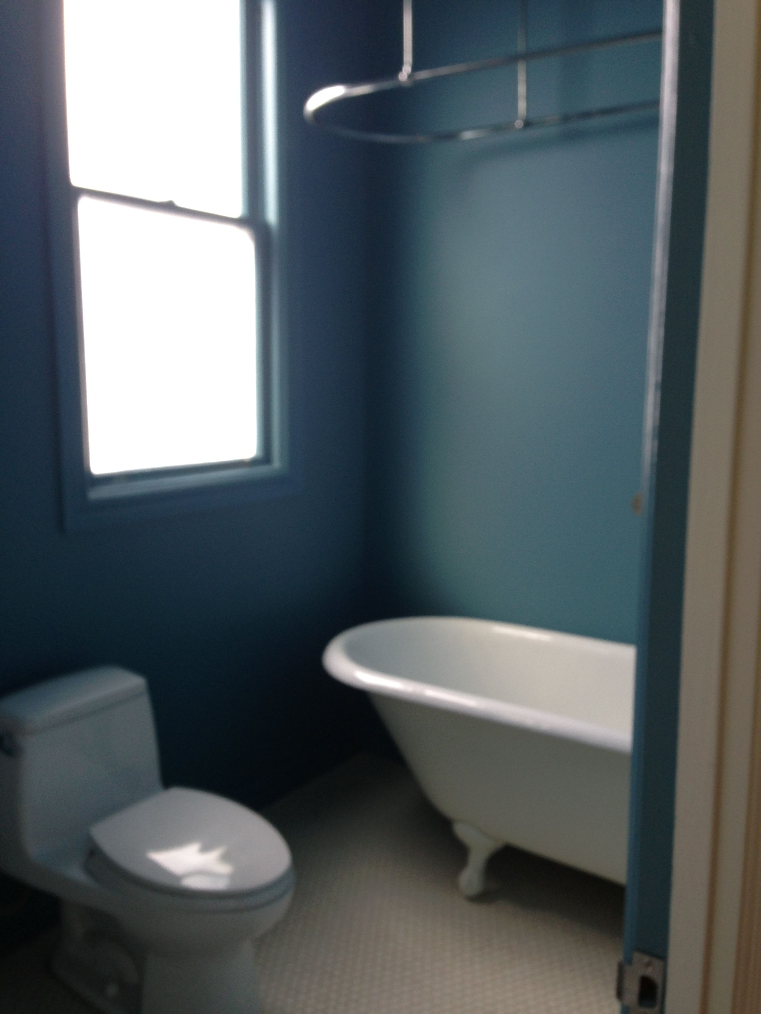 Steel blue   Decorating   Pinterest   Colors, Blue bathrooms and ...
