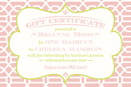 free fillable printable tea rose chartreuse gift certificate pink baby or bridal shower