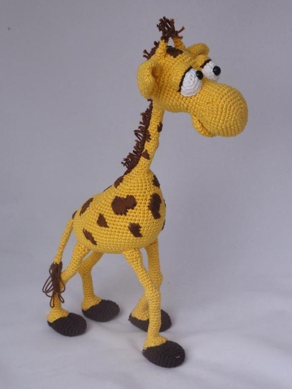 Amigurumi Giraffe Haken : Geoffrey the Giraffe Amigurumi Pattern - Gehaakte knuffels ...