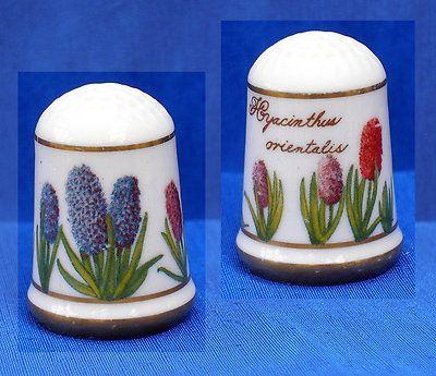 Franklin Porcelain Flowers of Holland Thimble Hyacinth | eBay