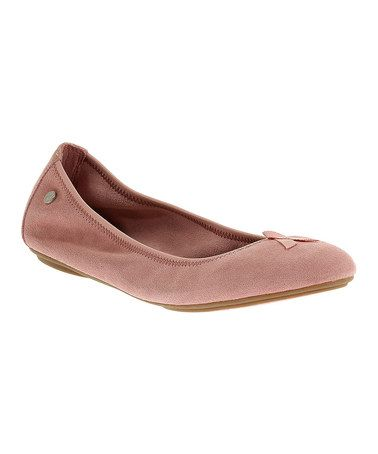 435105fef9bfb Look what I found on  zulily! Pink Chaste Suede Flat - Women ...