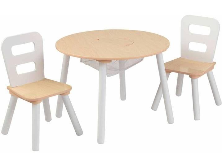 Kidkraft Kindertisch Mit 2 Stuhlen Braun Massivholz 27027 Table