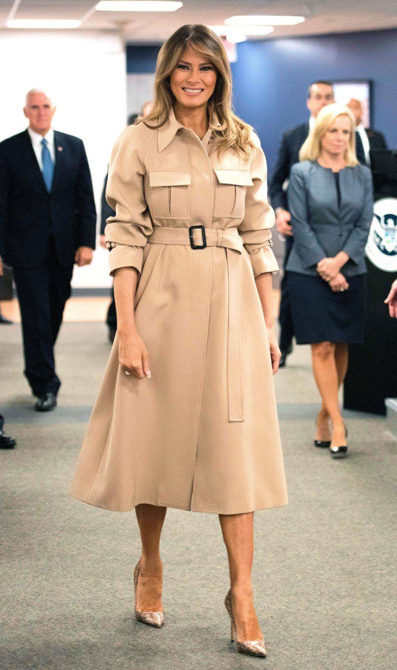 Melania Trump Wears Erdem to Celebrate the New Year