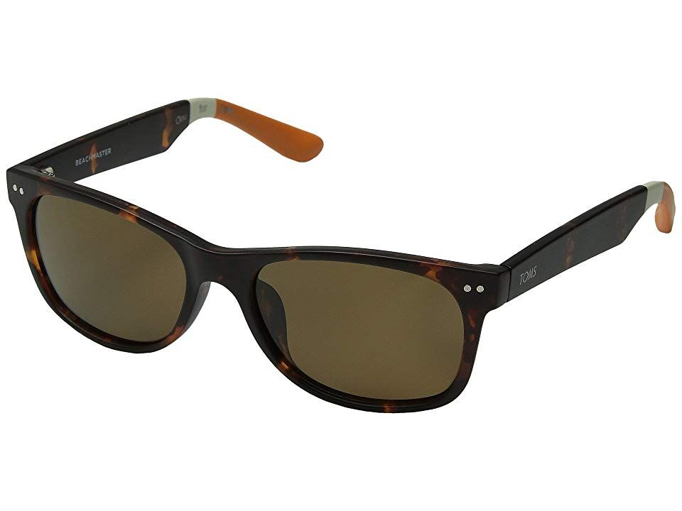 TOMS Beachmaster Polarized Matte Tortoise Fashion Sunglasses With every pair of eyewear you purchase TOMS will help give sight to a person in need One for One Iconic styl...
