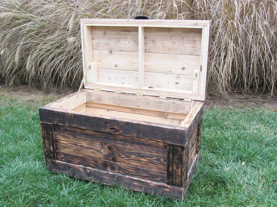 Chest Large Made From Reclaimed Wood Pallets - Hope Chest - Pallet Chest Chest Large Made From Reclaimed Wood Pallets