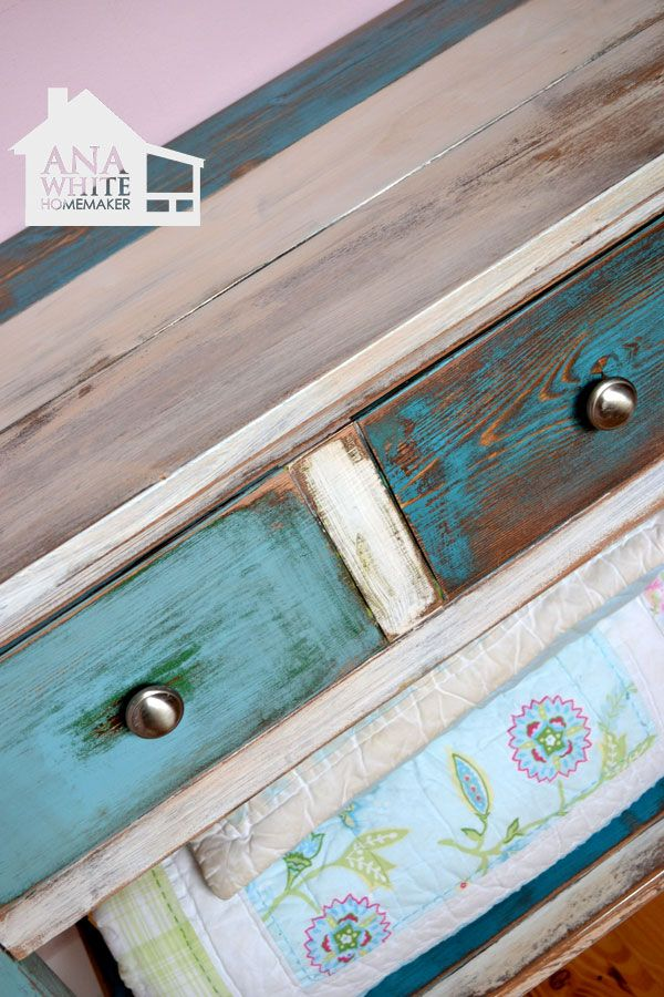 Reclaimed Wood Patchwork Multi Color Tutorial: The Look Of Furniture Made  From Different Colors Of Painted Reclaimed Wood.