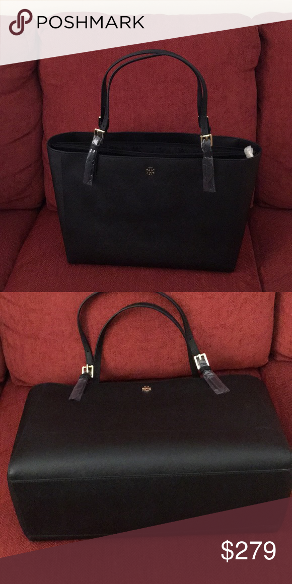 713f6bcb950 TORY BURCH YORK Large Leather Tote in Black. NWT Black TORY BURCH York tote  large