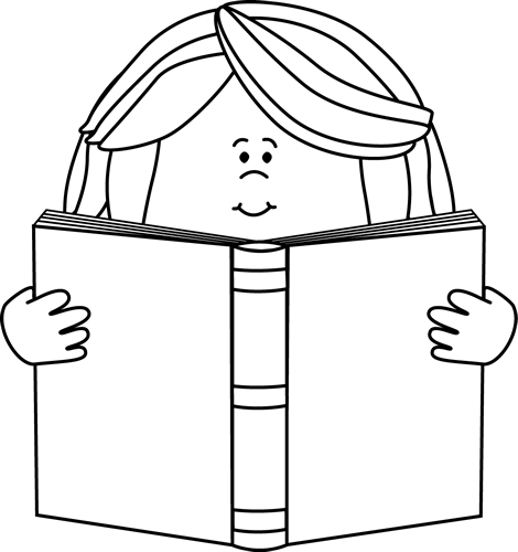 Black And White Girl Reading A Book Clip Art Black And White Girl Reading A Book Image Book Clip Art Sports Coloring Pages Clip Art