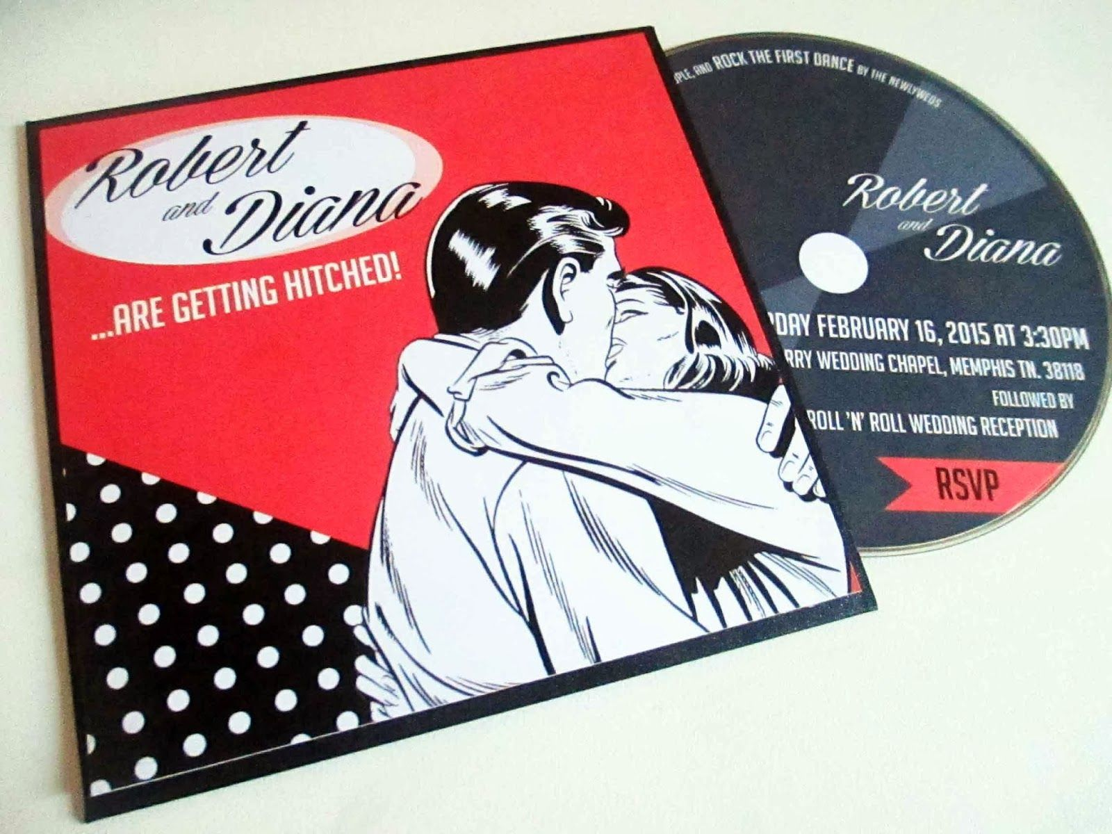 free rockabilly wedding invitation templates - Google Search ...