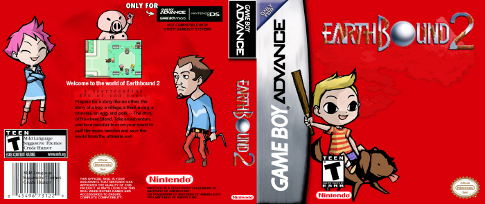 Earthbound 2 box art cover | Mother 3 | Box art, Box, Cover