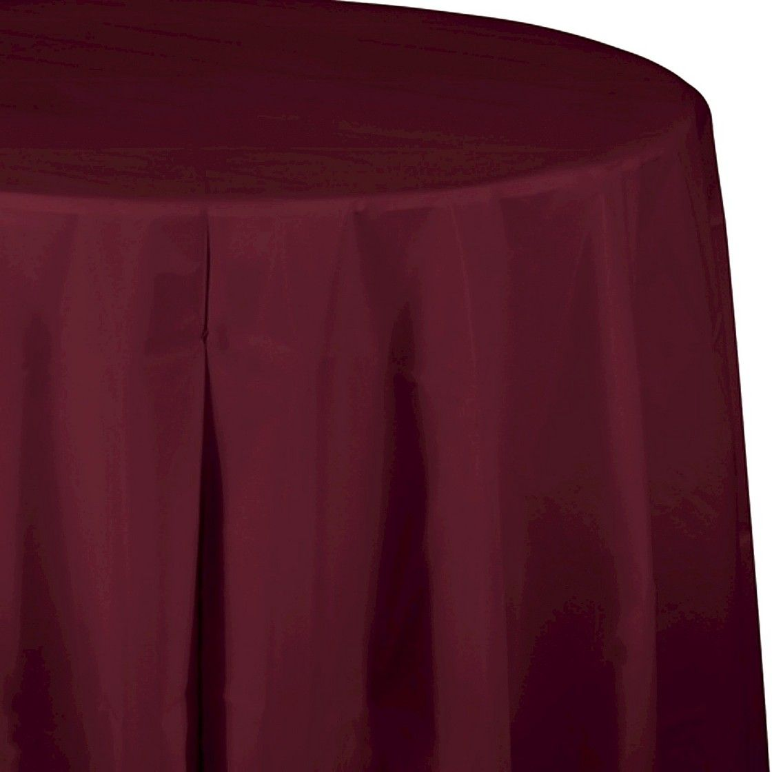 Burgundy Red Disposable Tablecloth With Images Table Cloth Round Table Covers Round Tablecloth