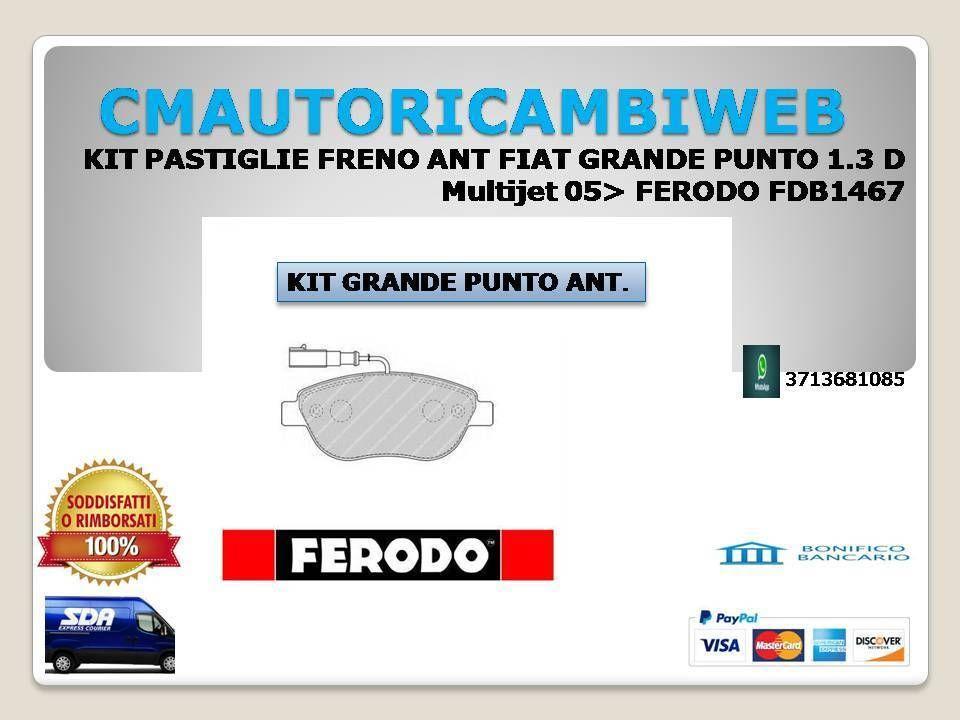 KIT 4 PASTIGLIE FRENI ANTERIORI LANCIA MUSA FERODO FDB1467b 350