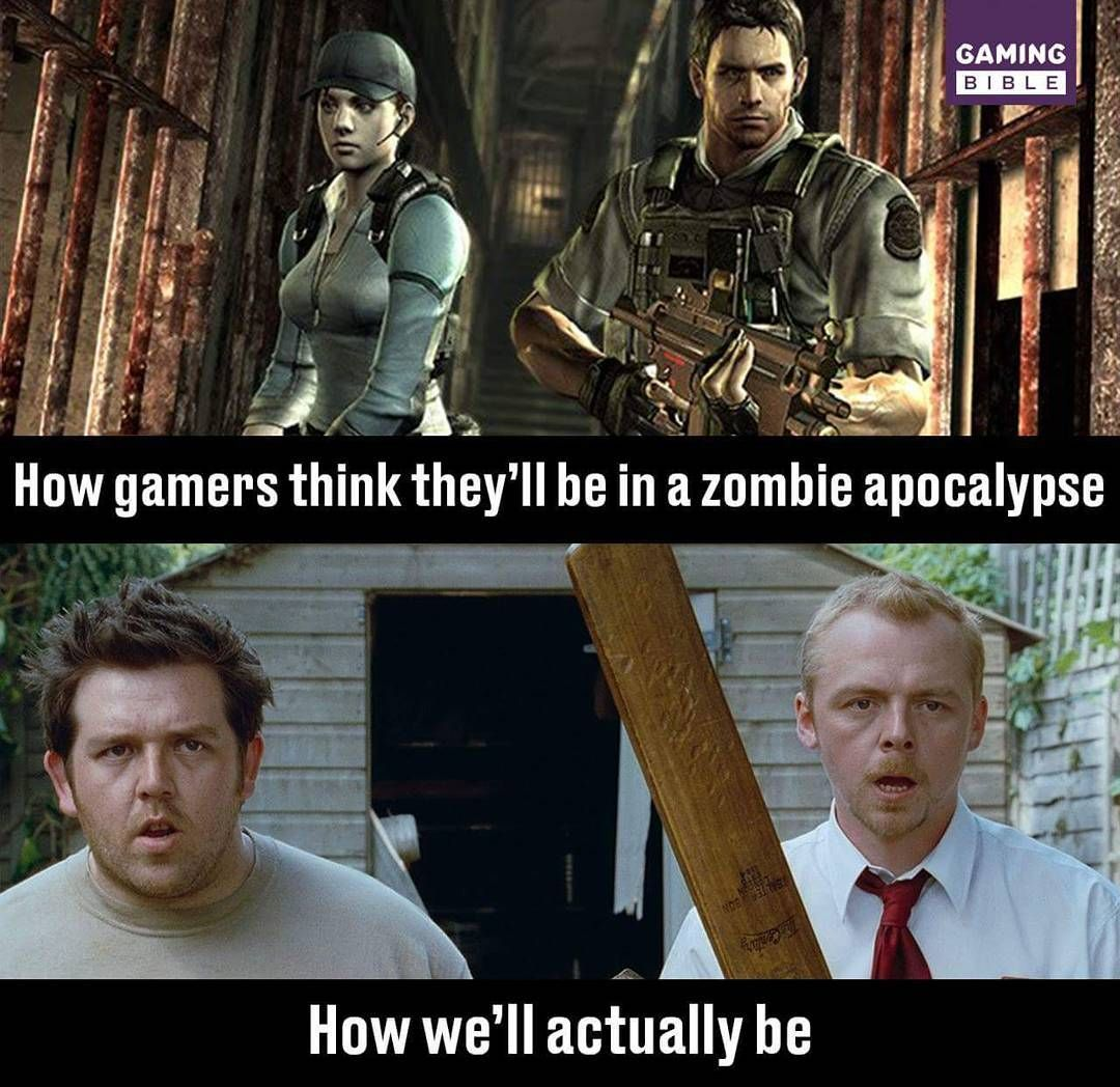 That Would Be My Biggest Problem During The Zombie Apocalypse Video Game Quotes Left 4 Dead Funny Games