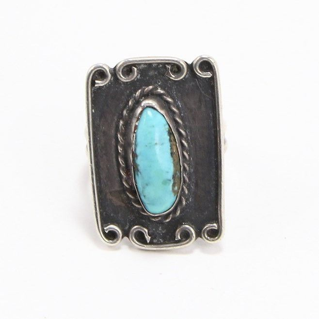 NAVAJO TURQUOISE RING - SIZE 7