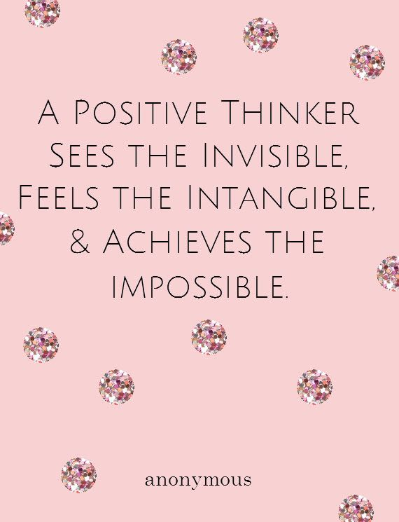 Positive Thinking Positive Thinker Words Quotes
