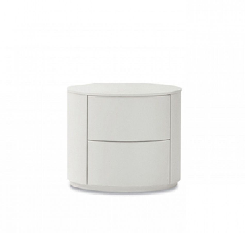 Contemporary Round Bedside Cabinet Crystal