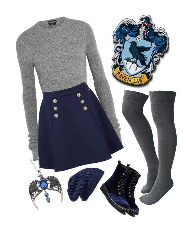 """""""Ravenclaw"""" by closhadow ❤ liked on Polyvore featuring Tom Ford, Tommy Hilfiger and Hinge"""