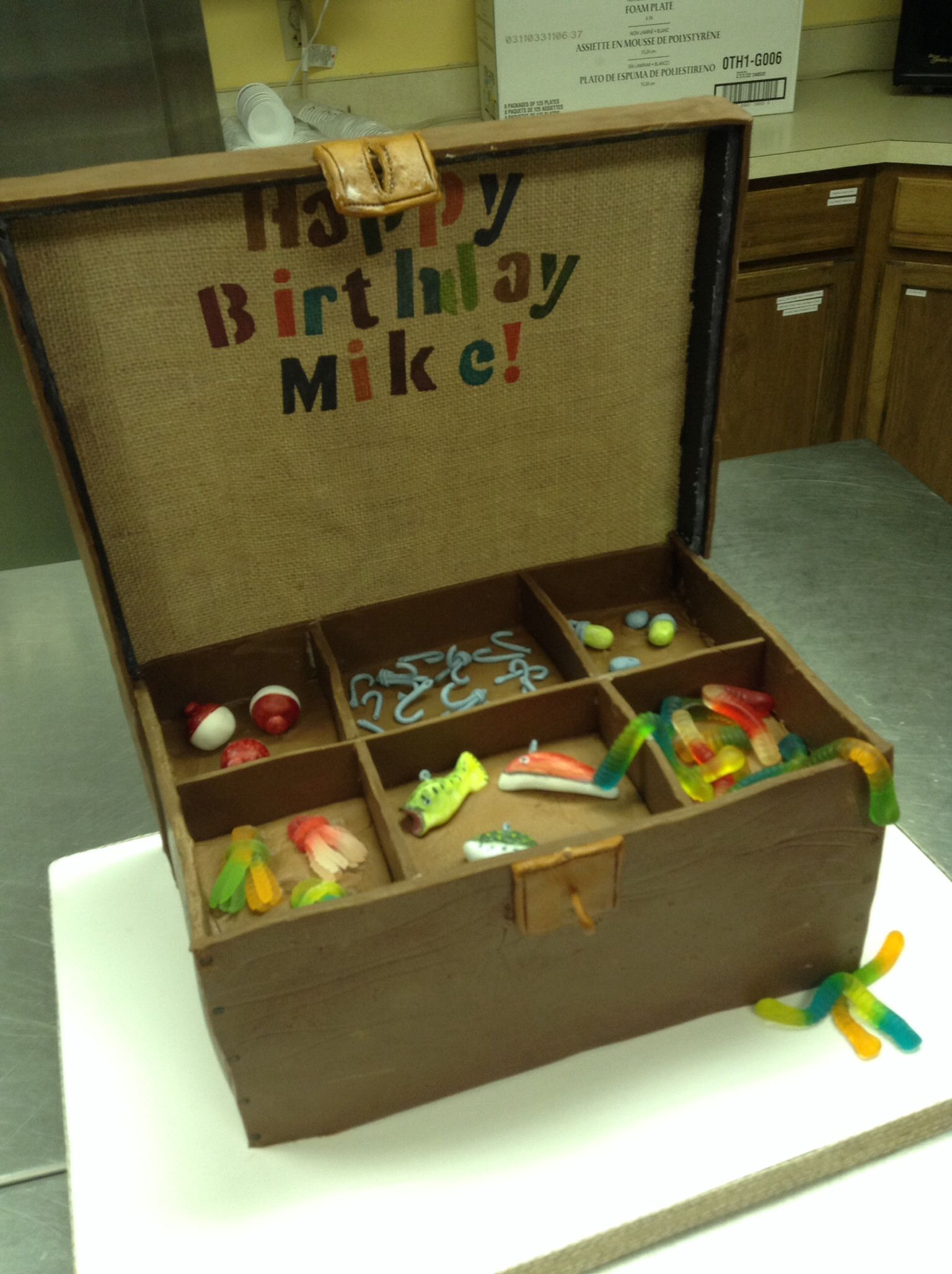 Fishing Tackle Box Cake I Made This For A Friends Birthday Who