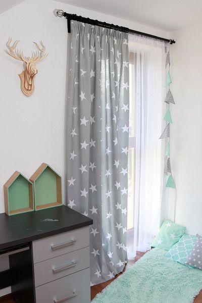 Kinderworhang, Vorhang für Kinder, Sterne Products, Ein and Sterne - Gardinen Landhausstil Wohnzimmer